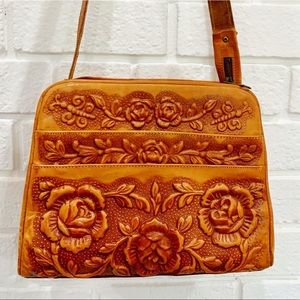 Vintage Hand-Tooled Mexican Leather Bag